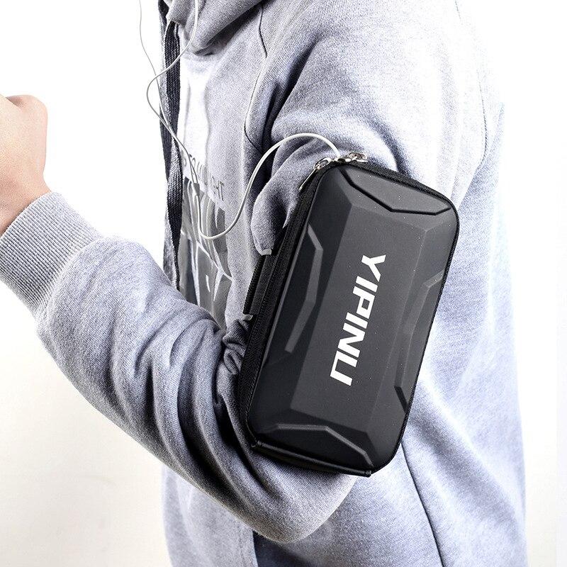 حامل للهاتف على اليد تشغيل شارة جراب هاتف قضية الرياضة للنساء رجل اليد ذراع هاتف محمول حقيبة صدمات مضيئة