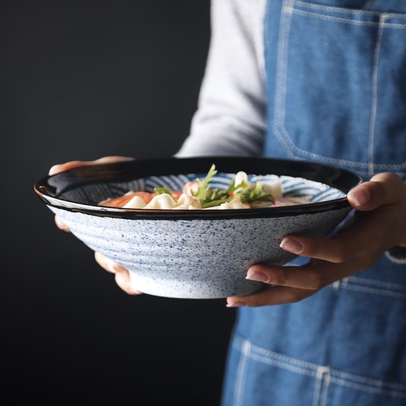ANTOWALL-وعاء نودلز سيراميك ، على الطريقة اليابانية ، مموج ، إبداعي ، كبير ، للمنزل