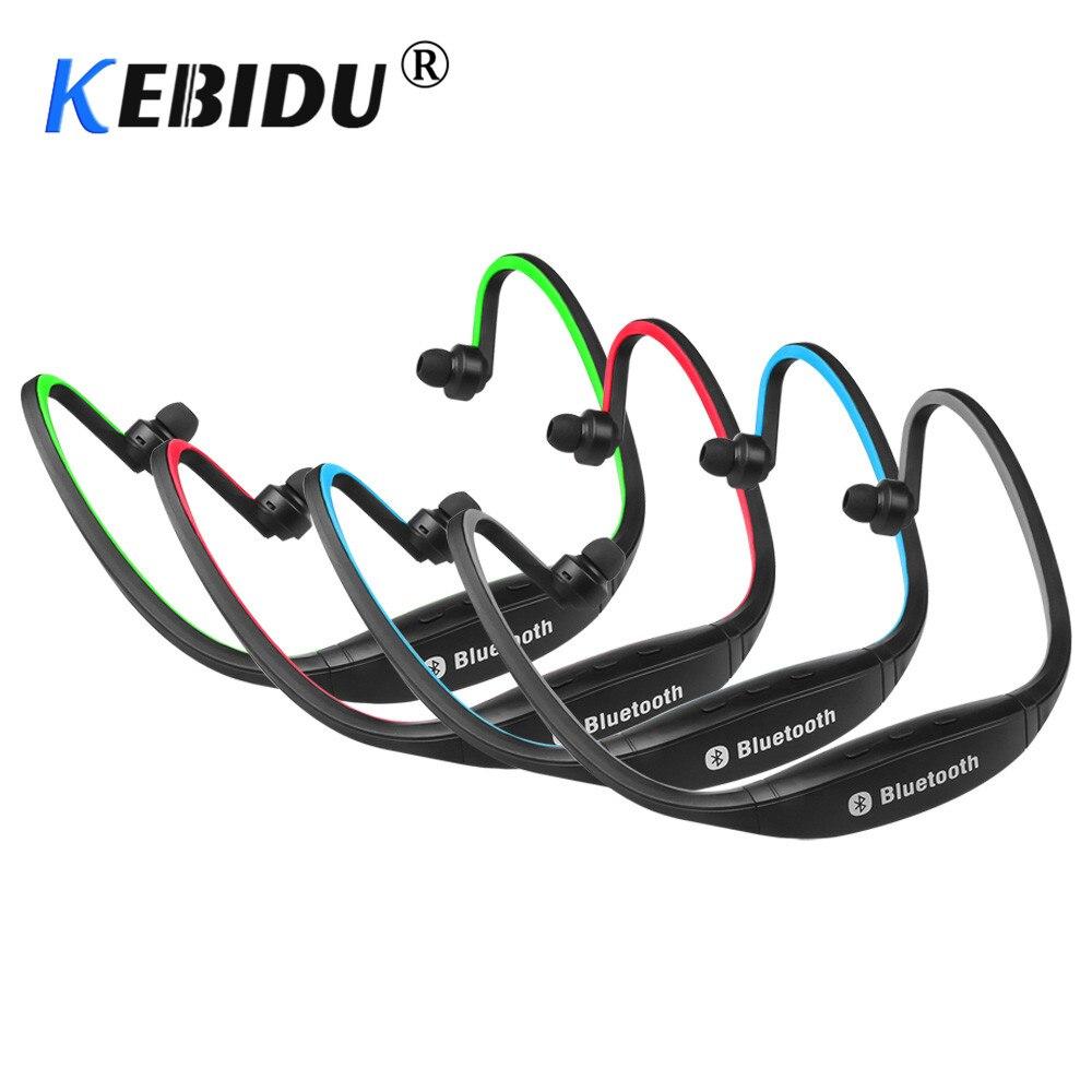 Kebidu auriculares Bluetooth calientes inalámbricos estéreo al aire libre corriendo auriculares con micrófono para iphone para Samsung para deporte