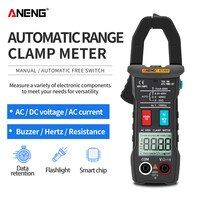 ANENG ST203 Digital Clamp Meter Multimeter 4000counts True RMS Mini Amp DC/AC Clamp Meters voltmeter 400v Automatic Range