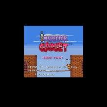 Inspektor gadżet stany zjednoczone wersja 16 bit wielki szary gra karciana dla odtwarzacza gier NTSC