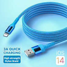 Quick Charge USB Cable For iPhone 12 11 Pro Max XS X 6 6s 7 8 Plus Origin Mobile Phone Charger Cord Data Charger Wire 1/1.5/2M