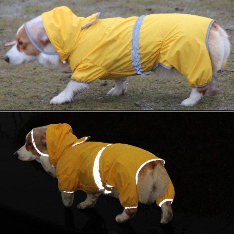 Дождевик для собак с валлийской корги, комбинезон, водонепроницаемая одежда, товары для улицы, товары для домашних животных, товары для соба...