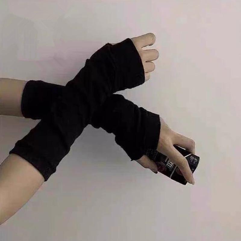 Аниме перчатка Косплей Темный ниндзя рукавицы нарукавник мужские женские модные солнцезащитные блочные сохраняющие тепло манжеты Мужские перчатки      АлиЭкспресс