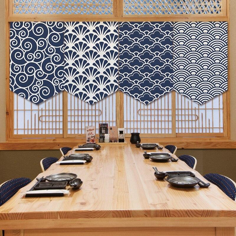 Cortina de estilo japonés, cortina Triangular, cortina de cocina, partición, cubierta de cortina, gabinete de cortina, pequeña cortina