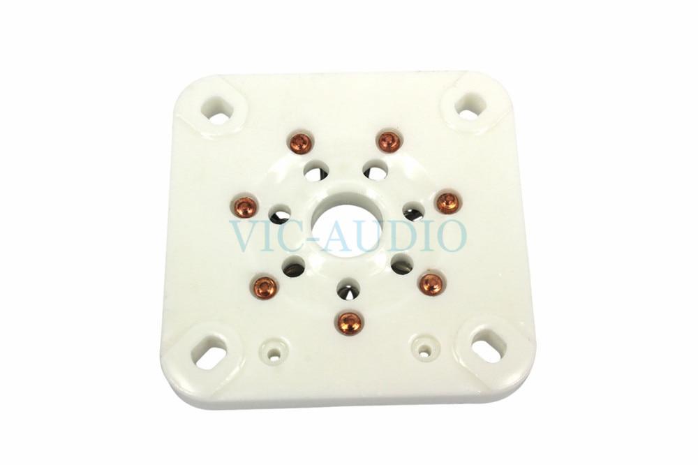 DIY amplificador 2 uds 7 pines zócalos de tubo de vacío Base de cerámica para 813 FU-13 4B27 5-125B 8001 electrón tubo envío gratis