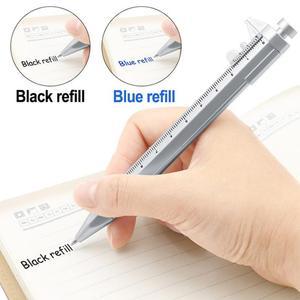Multi-function Vernier Caliper Tool Ballpoint Pen Roller Pen Measuring Tool Woodworking Mark Black Blue Pen