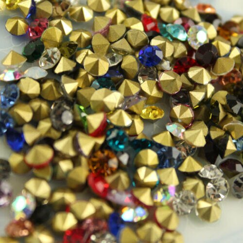 36P ss22-ss45mm Apontou Strass Rodada Fantasia Pedra Rivoli mista de Cristal do Grânulo colorido Glitter Para Unhas Jóia Fazendo DIY