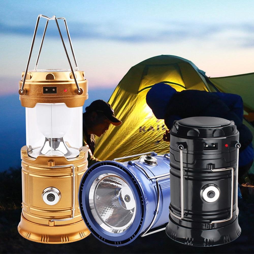 Portable Solar Camping Tent Light Flame Lamp Lantern Flashlight Retractable Emergency Lighting Camping Light Lantern