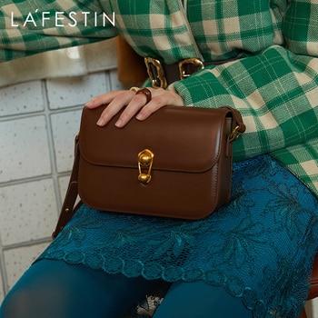 LA FESTIN bag 2021 new fashion niche bag all-match underarm small square bags trendy shoulder messenger designer bag leather bag