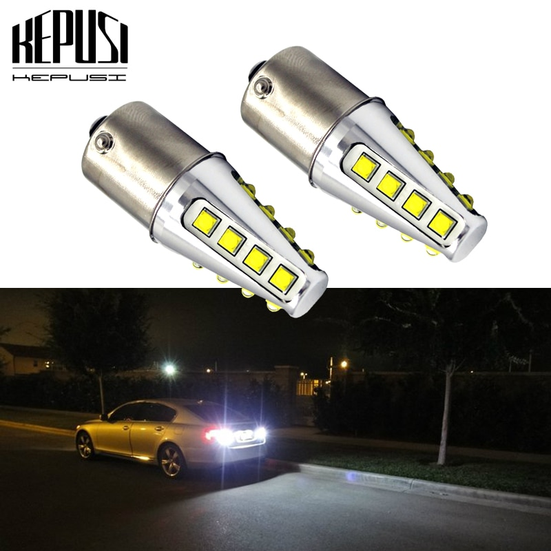 2x 1156 BA15S Car LED P21W 7506 7527 LED Bulbs Auto Light Turn Signal Backup Reverse Brake Light for Hyundai Kia Honda Ford