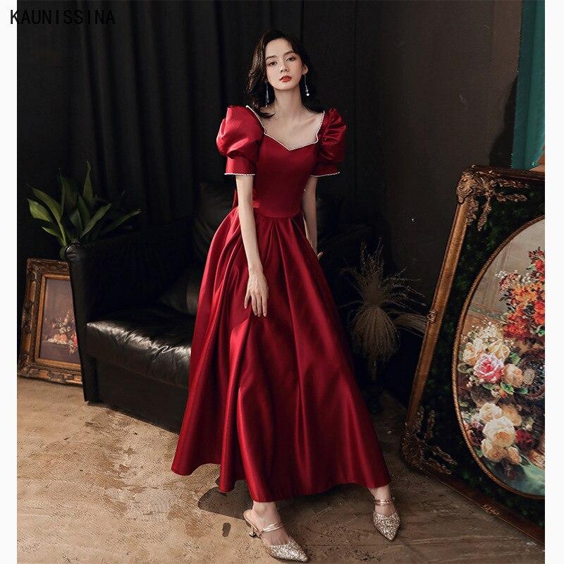 Элегантные длинные платья для выпускного KAUNISSINA, новые формальные женские вечерние платья для вечеринки, вечерние атласные платья а-силуэта...