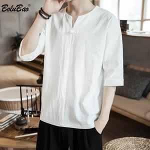 BOLUBAO Summer Men Half T-Shirt Fashion Brand Men's Embroidered Loose T Shirt Fashion Casual Tee Shirts Tops Male