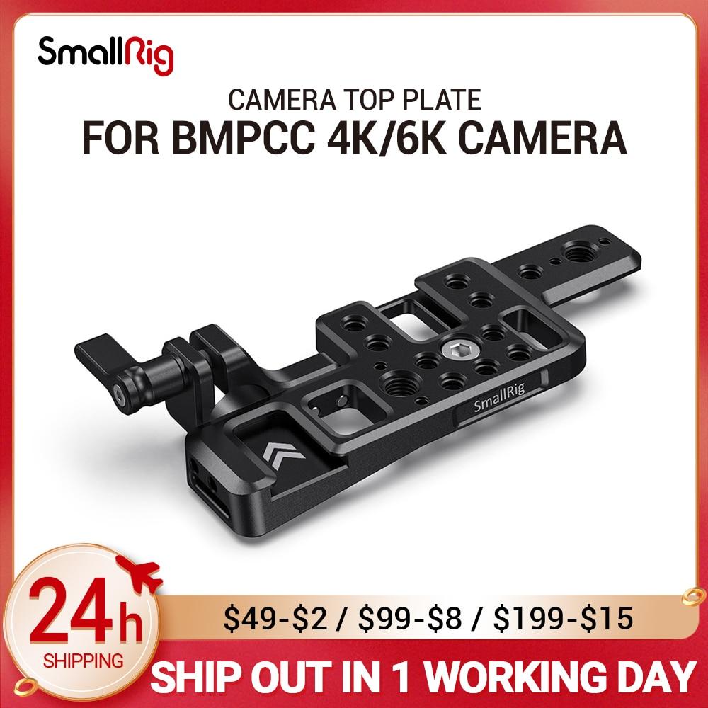 لوحة علوية خفيفة الوزن صغيرة الحجم لكاميرا BMPCC 4K & 6K ث/2 قضبان ناتو للتركيب على الأحذية الباردة لمراقبة الميكروفون لتقوم بها بنفسك خيارات 2510