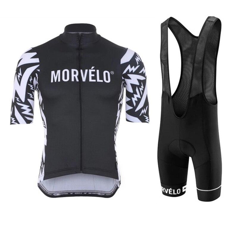 Morvelo-juego Uniforme De Ciclismo para Hombre, conjunto De pantalones cortos y pechera,...