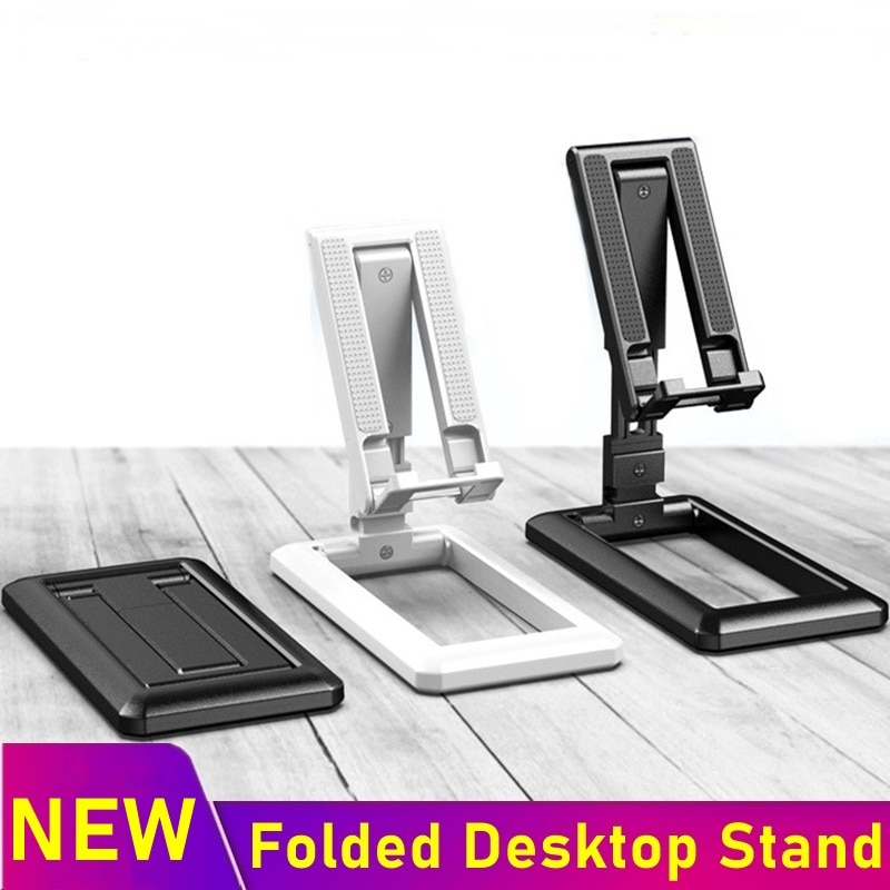 Universal Desk Phone Holder Foldable Mobile Cell Phone Stand For iPhone XS 8 7 SE 11 Pro Max Samsung Xiaomi Soporte Para Celular