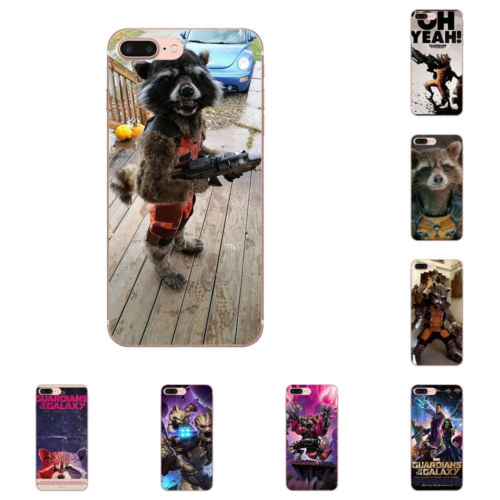 Cohete mapache guardianes de la galaxia para Samsung Galaxy Note 8 9 10 Pro S4 S5 S6 S7 S8 S9 S10 S11 S11E S20 Edge Plus Ultra