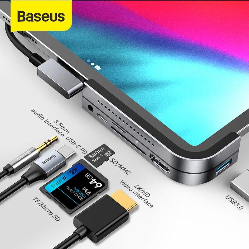 Baseus USB C HUB نوع C إلى متعدد USB 3.0 محور محول USB محور لماك بوك هواوي ماتي 40 USB-C محول الهاتف الذكي USB نوع C HUB
