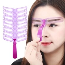 Make-Up Herbruikbare Wenkbrauw Stencil Wenkbrauw Heerser Cosmetica Eye Brow Mold Styling Vormgeven Template Card Makeup Beauty Kit