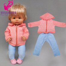 16inch Baby Doll Clothes Red Pants for 38 Cm Nenuco Ropa Y Su Hermanita Doll Suit Accessories