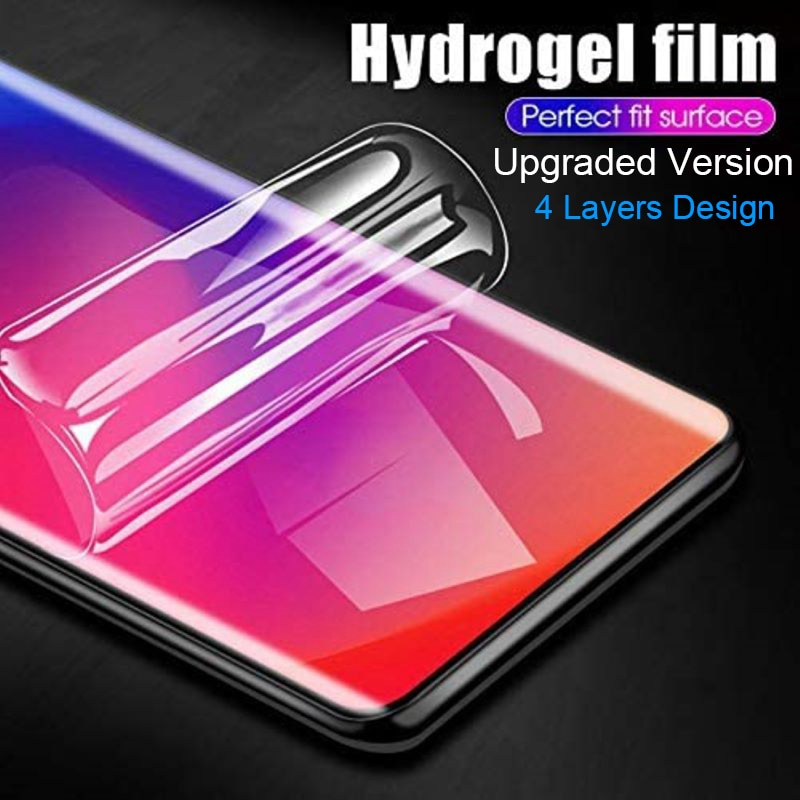 Hydrogel Film for Huawei Mate 40 RS Mate 40 Pro Plus Nova 5T 7SE 7 Pro Sensitive 4 Layers Design Protective Screen Protector