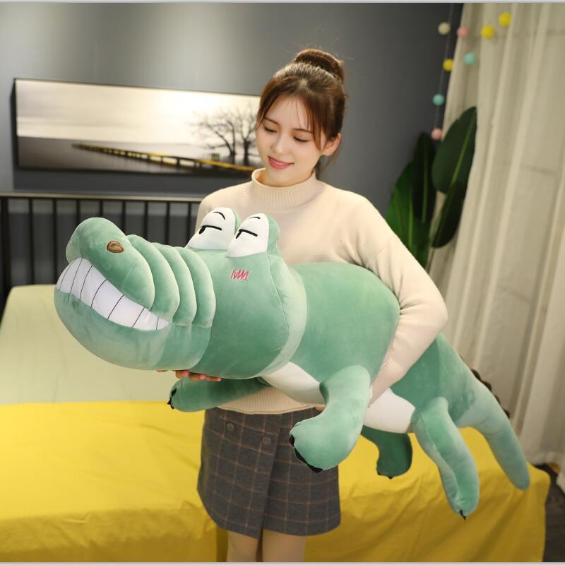 Giant Crocodile Plush Toy Soft Creative Stuffed Animal Doll Big Eye Plush Crocodile Toys Cartoon Pillow Sofa Cushion Girl Gift