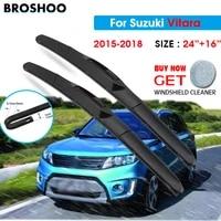 car wiper blade for suzuki vitara 2416 2015 2018 windscreen windshield wipers blades window wash fit u hook arms