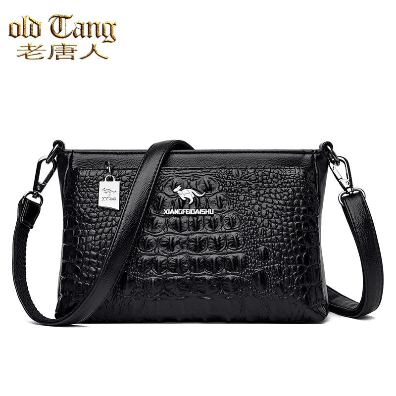 Luxury Crocodile Pattern Shoulder Bags for Women 2021 Designer Women's Handbag High Quality Leather
