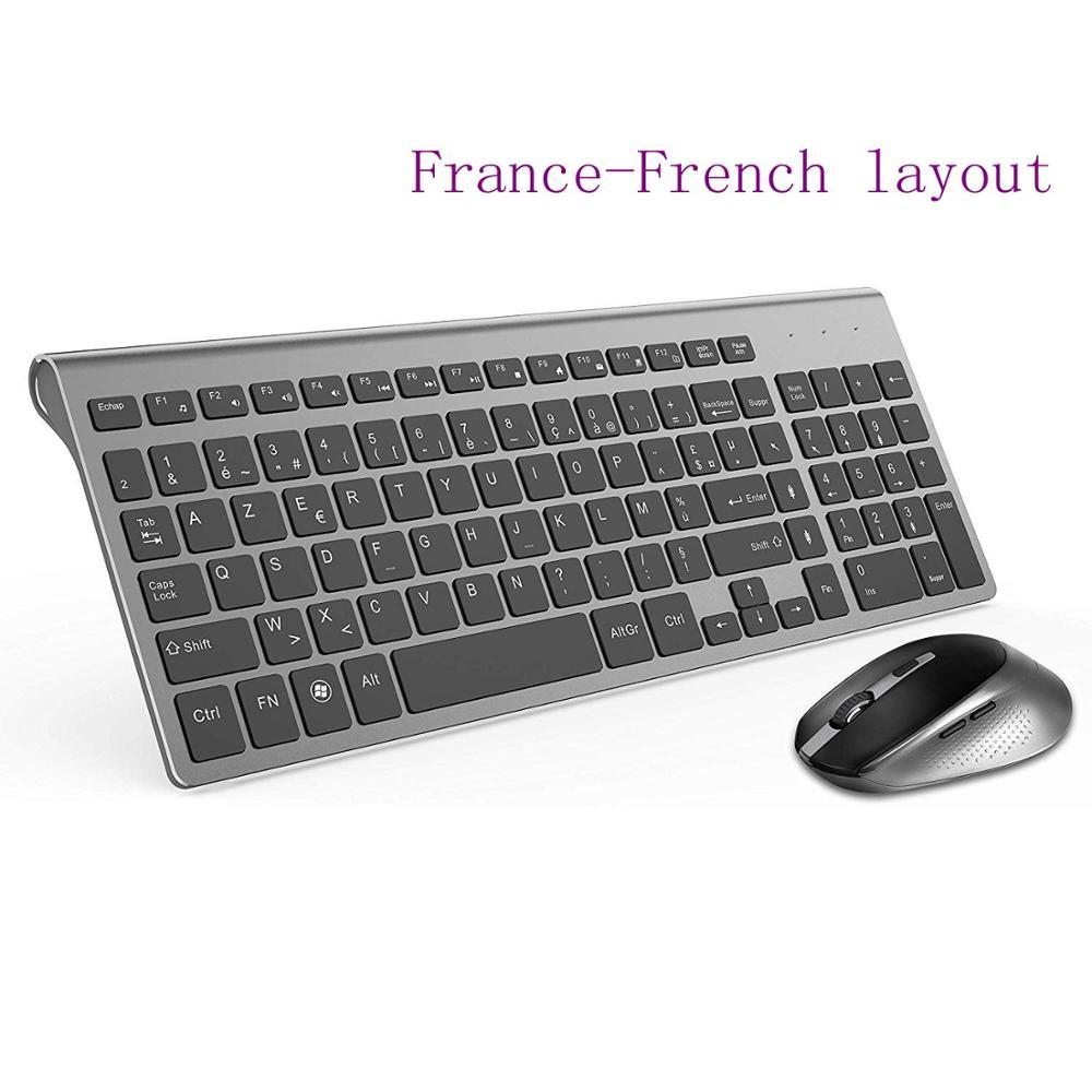 Беспроводная клавиатура с мышью французская раскладка эргономичный тихий