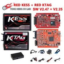 KESS V2 V5.017 SW V2.47 K-TAG 7.020 V2.25 Master EU Red PCB ECM Titanium KTAG V7.020 ECU Chip Tuning Tool Kit ECU Programmer