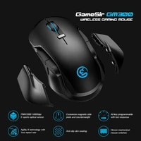 gamesir gm300 2 4ghz wireless gaming mouse with replaceable magnetic side plates and counterweight 16000 dpi