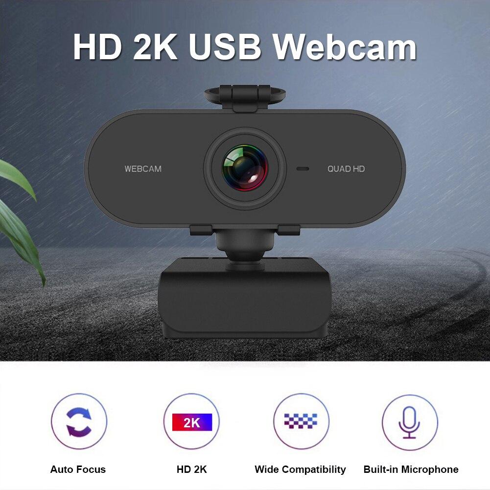 4mp 2k hd webcam com microfone embutido usb driver camera web livre com tripe de