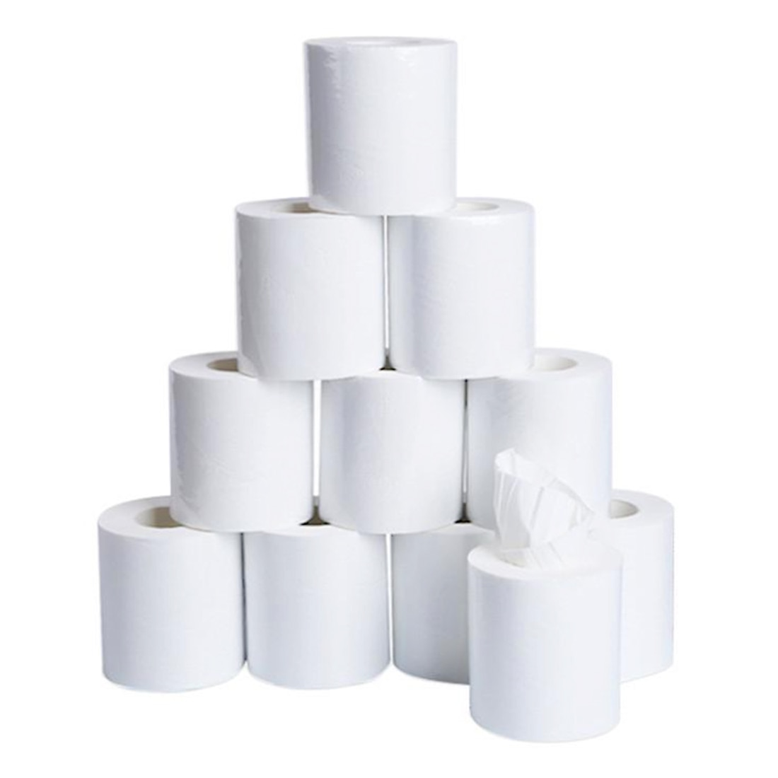 10pcs/lot White Thickened Toilet Tissue Soft Household Toilet Paper Hollow Replacement Roll Paper Individual package
