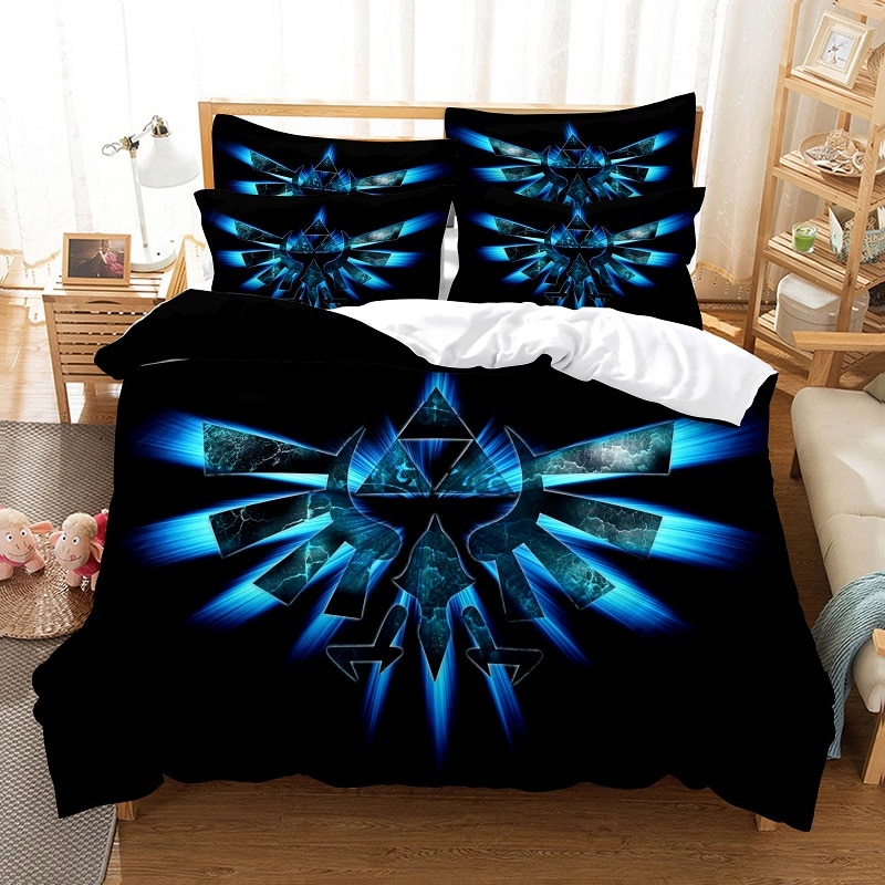طقم سرير حاف مجموعة غطاء الفراش ثلاثية الأبعاد الطباعة الرقمية أغطية سرير الملكة حجم طقم سرير تصميم عصري