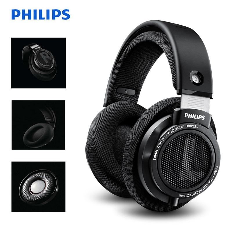 Original Philips SHP9500 High-quality Sound headset with Microphone noise reduction Earphones for Xi