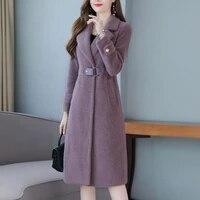 kmetram 2020 faux fur coat winter jacket women clothes 2020 fashion faux mink fleece long coat female jacket warm outwear 2351