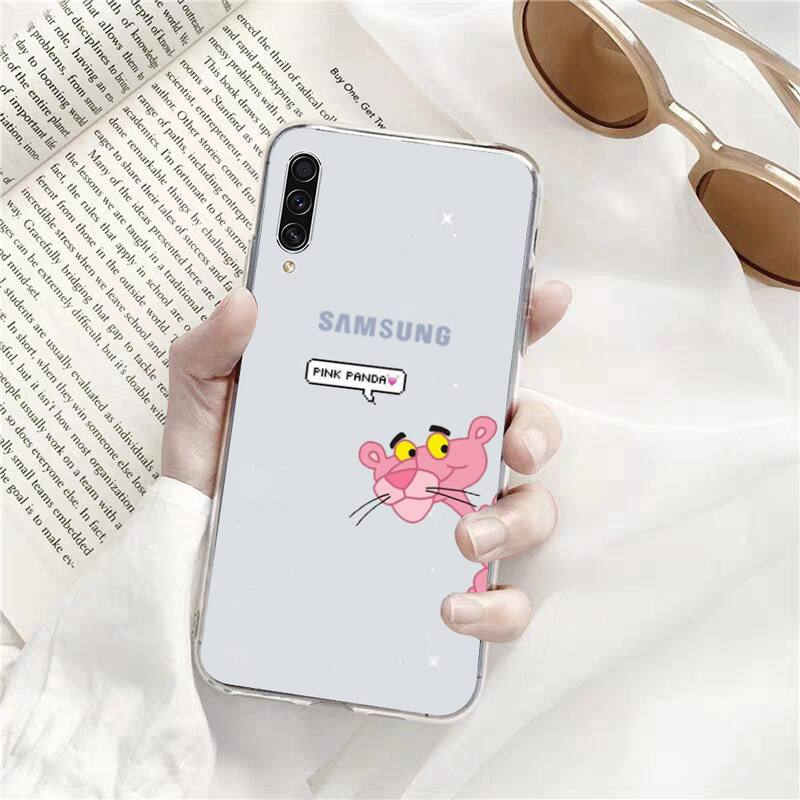 Pink Panther CartoonPhone Cases Transparent for Samsung s9 s10 s20 Huawei honor P20 P30 P40 xiaomi note mi 8 9 pro lite plus  - buy with discount