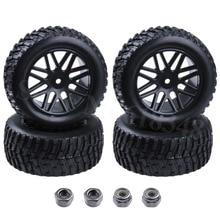 4 pièces 2.2 pouces RC court Course camion pneus et jantes 12mm moyeu hexagonal pour 1/10 HSP rallye Course DESTRIER Redcat Vortex SS