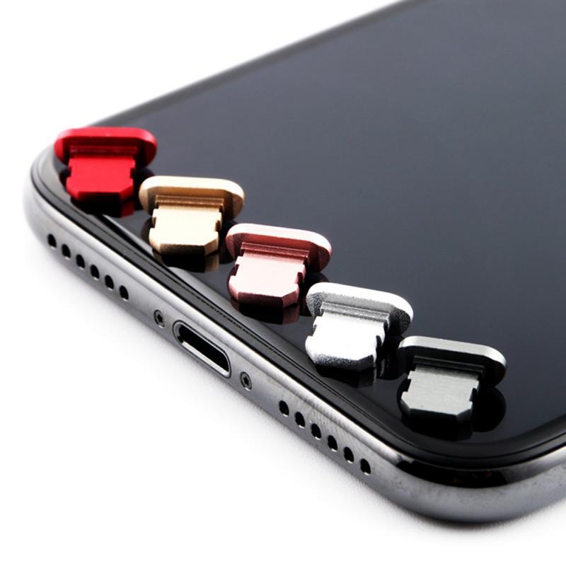Mini Mobile Phone Dust Cover Aluminum Alloy Portable Metal Dust-proof Charger Base Plug Cap Cover Su