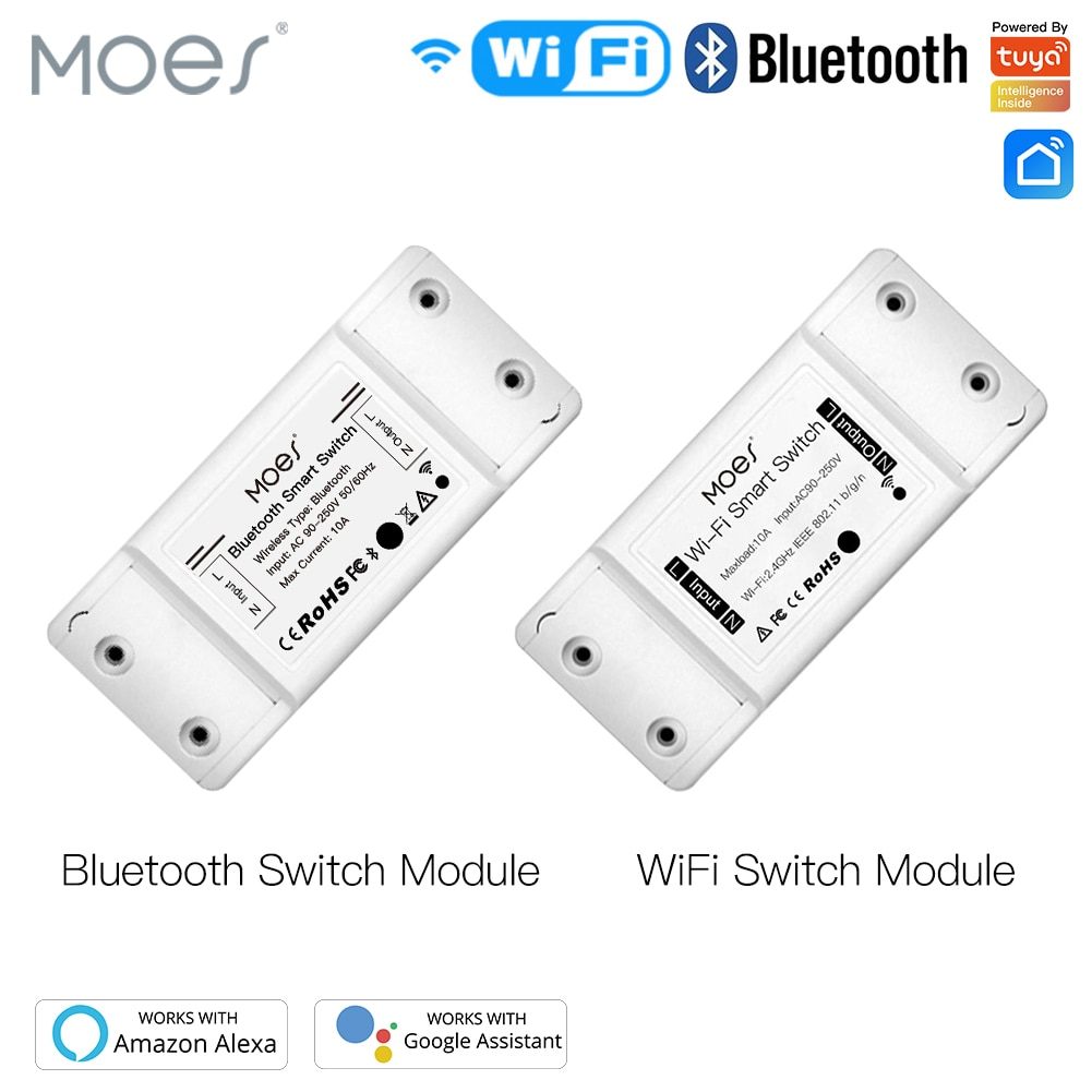 Moes Universal Breaker Timer Smart Life APP Wireless Remote Control Works with Alexa Google Home DIY WiFi Smart Light Switch
