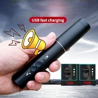 2 in 1 electronic whistle traffic command high decibel with led light sports referee training outdoor survival whistle