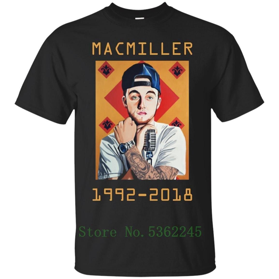 Camiseta preta-mac-miller 1992 - 2020 moda mac-miller camiseta para homem dos desenhos animados camiseta masculina presente novo unisex tshirt livre