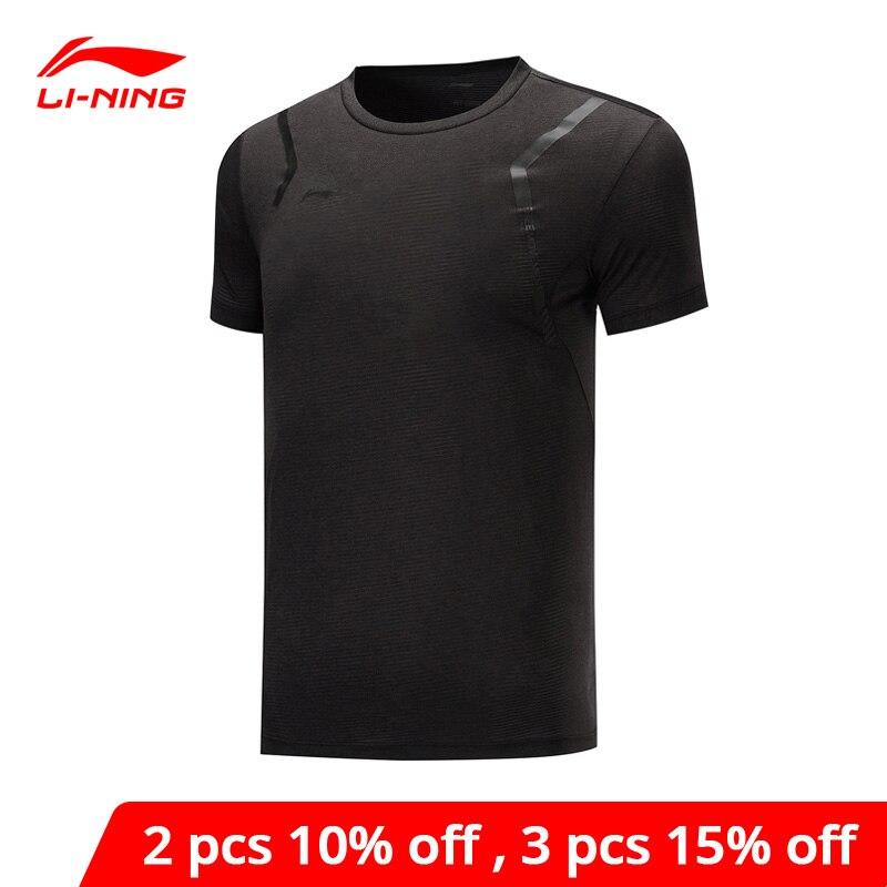 Li-ning camisetas de entrenamiento para hombres en DRY transpirable 100% poliéster forro de manga corta Li Ning Comfort Camiseta deportiva ATSP199 MTS3117