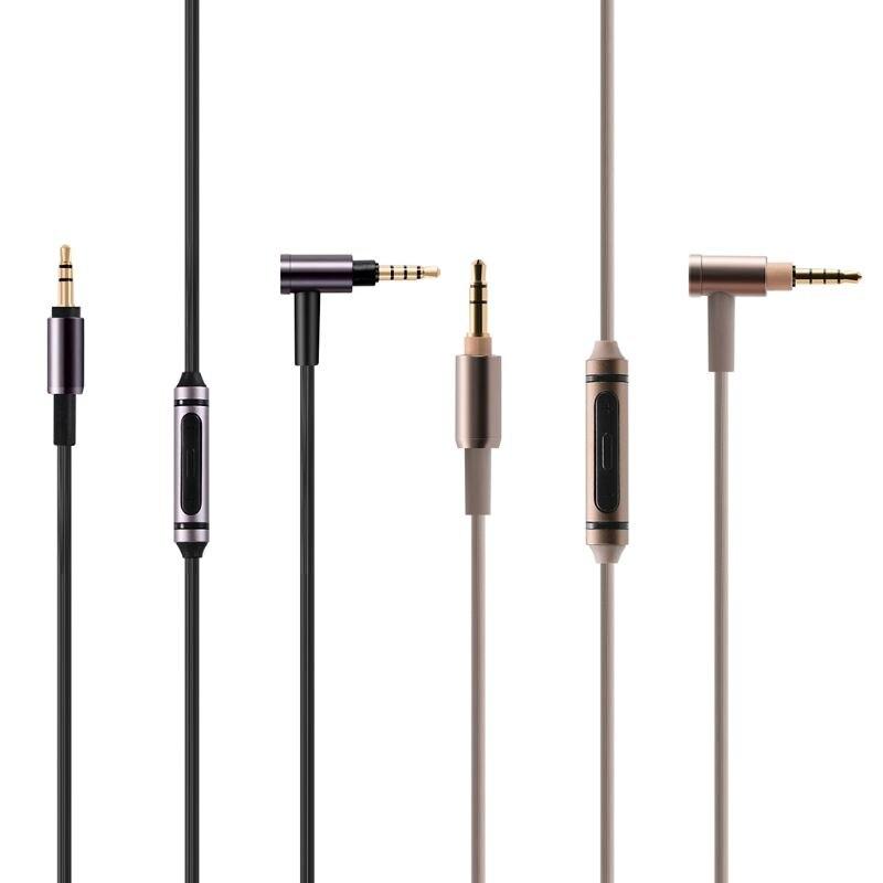 Замена аудио серебряный кабель дистанционного микрофона для-SONY MDR-100ABN 1A MDR-100X MSR7