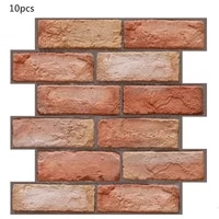 3d stereo tile stickers red brick self adhesive wall stickers living room tv bathroom decoration anti collision wallpaper