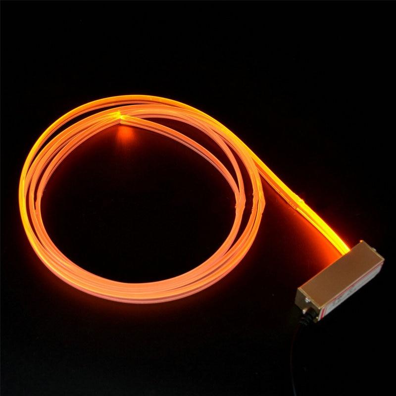 Mini 3 w 12v carro led projetor fonte de luz motor luz gerador luz + 2 metros 3mm (diâmetro.) Saia lado brilho cabo de fibra óptica