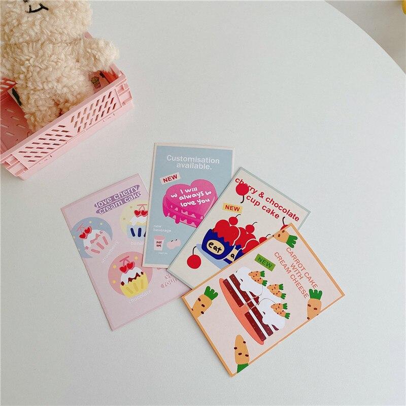 Ins корейский Любовь Торт поздравительная открытка украшение стены фото фон открытка