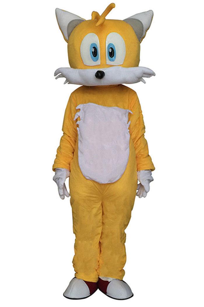 زي التميمة Sonic Fox التنكري التنكري ، فستان الحفلة التنكرية ، أزياء عرض الرسوم المتحركة ، مجموعة جديدة