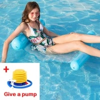 hot sale water hammock water toys recliner foldable inflatable floating bed swimming pool floating swimming floating toys