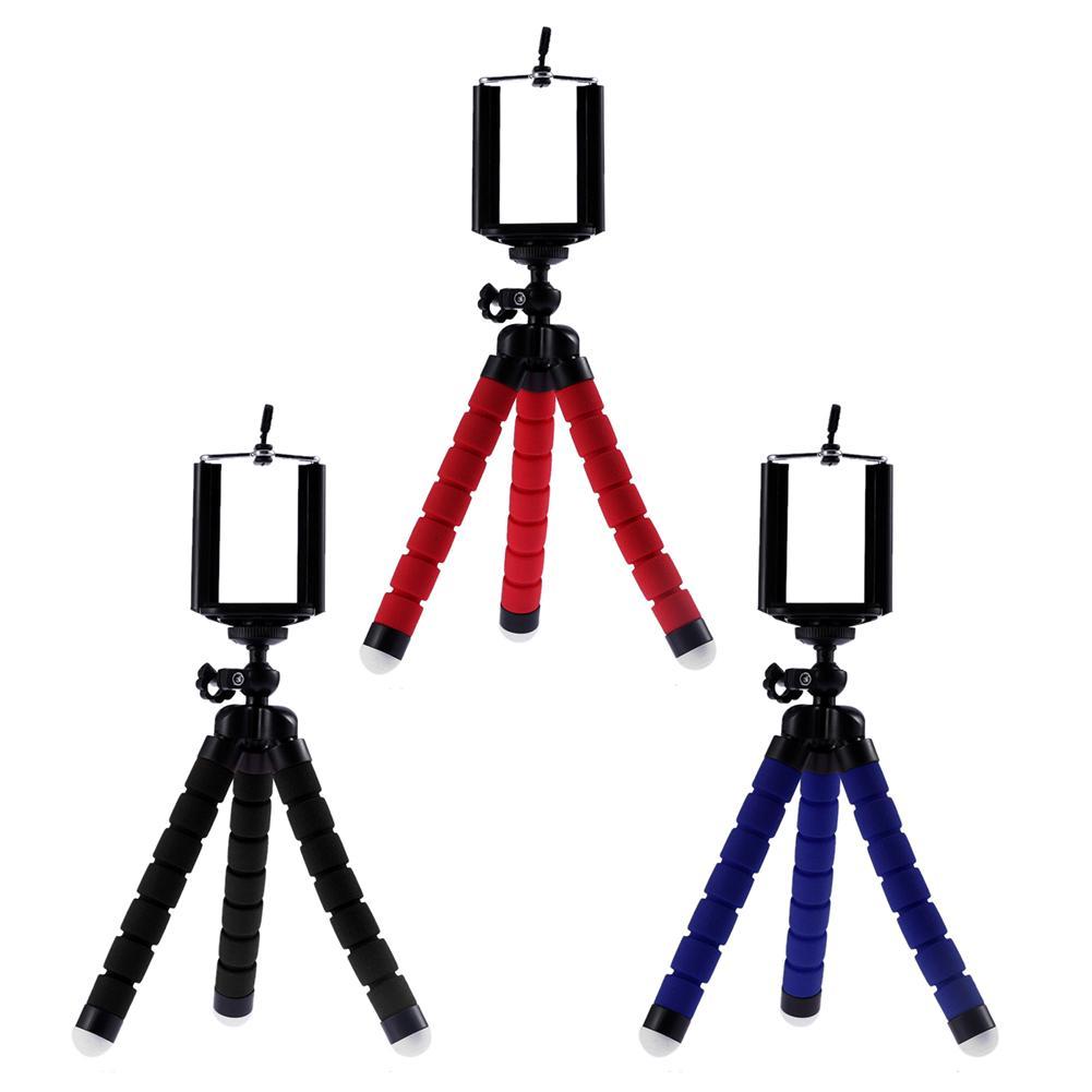 Mini esponja Flexible pulpo trípode portátil soporte para la cámara del teléfono soporte